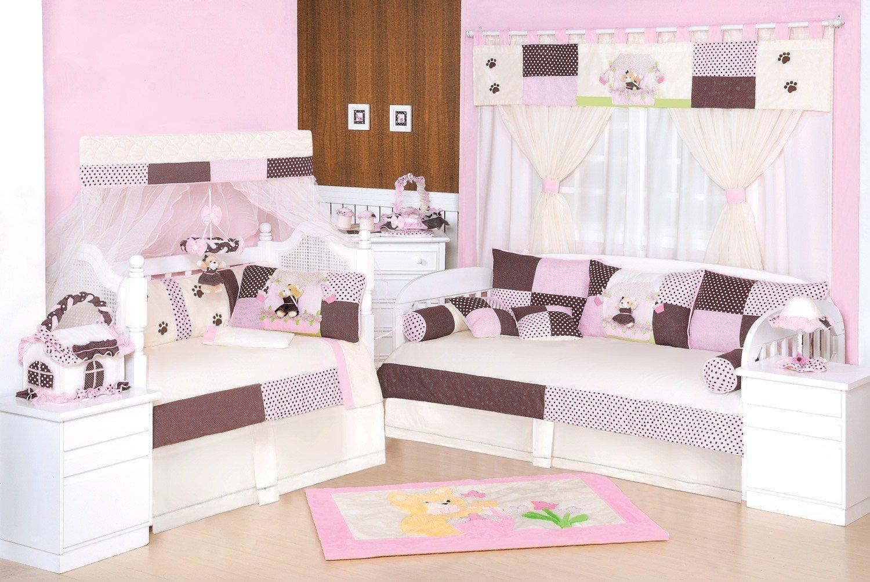 Quarto para Bebê Ursa Florista Rosa
