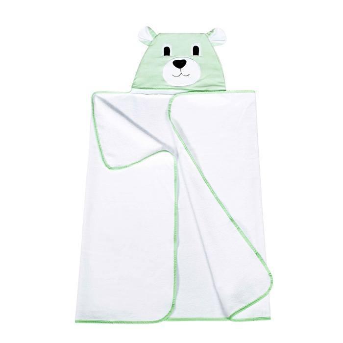 Toalha com Capuz Urso Verde