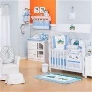 Quarto para Bebê sem Cama Babá Aventura Azul