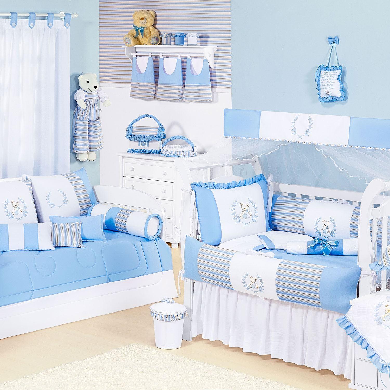 Quarto para Bebê Ursinho Azul  Grão de Gente