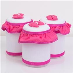 Jogo de Potes Vaso de Flor Pink