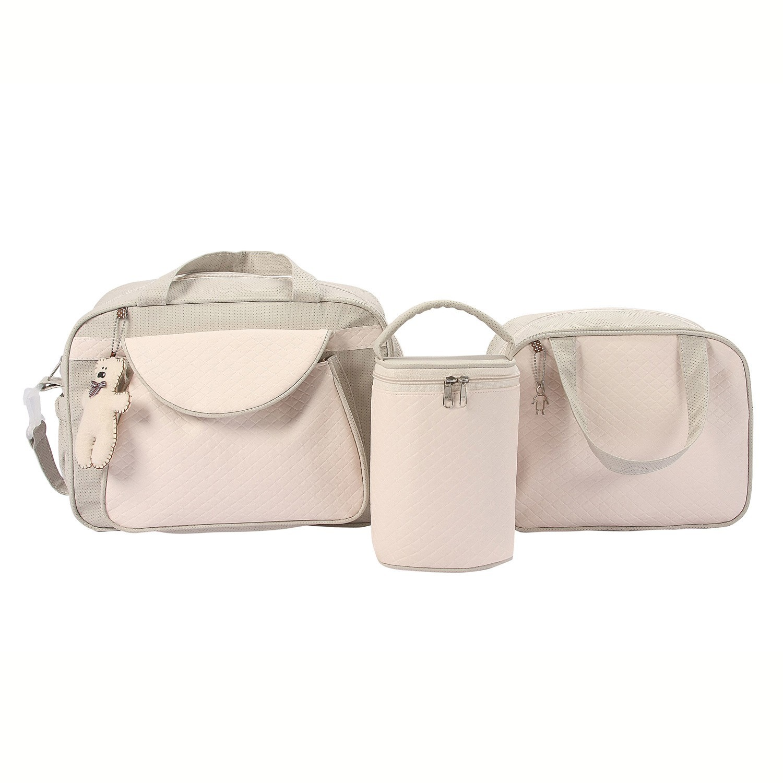 Conjunto de Bolsas Valencia Bege e Rosê
