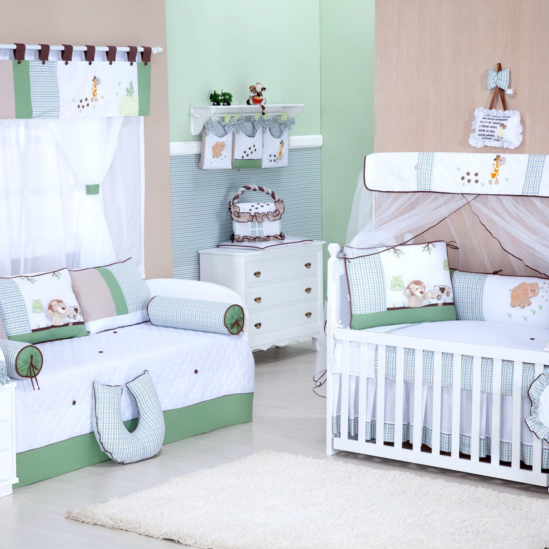 Quarto para Bebê Safari Verde