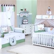 Quarto para Bebê sem Cama Babá Safari Verde