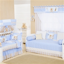 Quarto para Bebê sem Cama Babá Ursinhos Azul