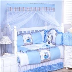 Kit Berço Urso Soninho Azul