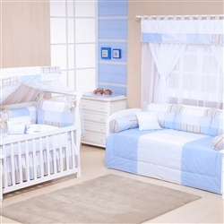 Quarto para Bebê sem Cama Babá Baby Chique Azul
