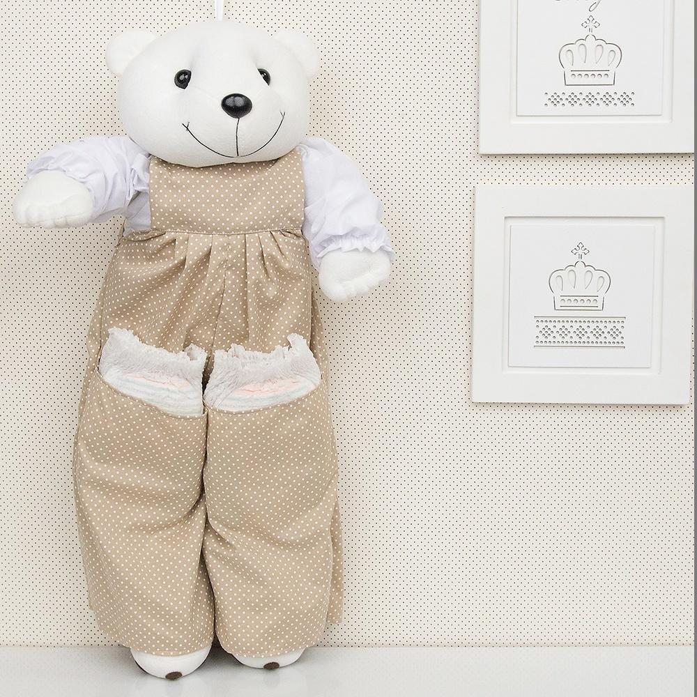 Porta Fraldas Urso Nino