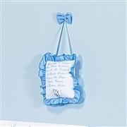 Enfeite Oração Santo Anjo Ursinho Azul