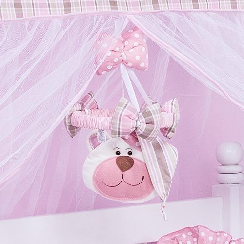 Móbile Urso Soninho Rosa