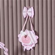 Enfeite Urso Soninho Rosa