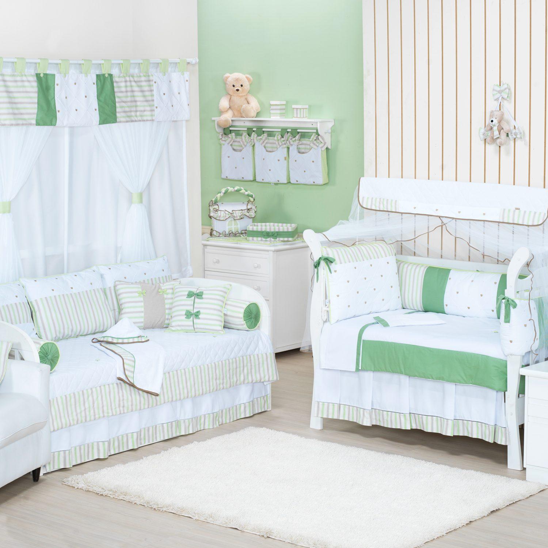 Quarto para Bebê sem Cama Babá Lipe Verde