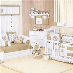 Quarto para Bebê sem Cama Babá Teddy Cáqui
