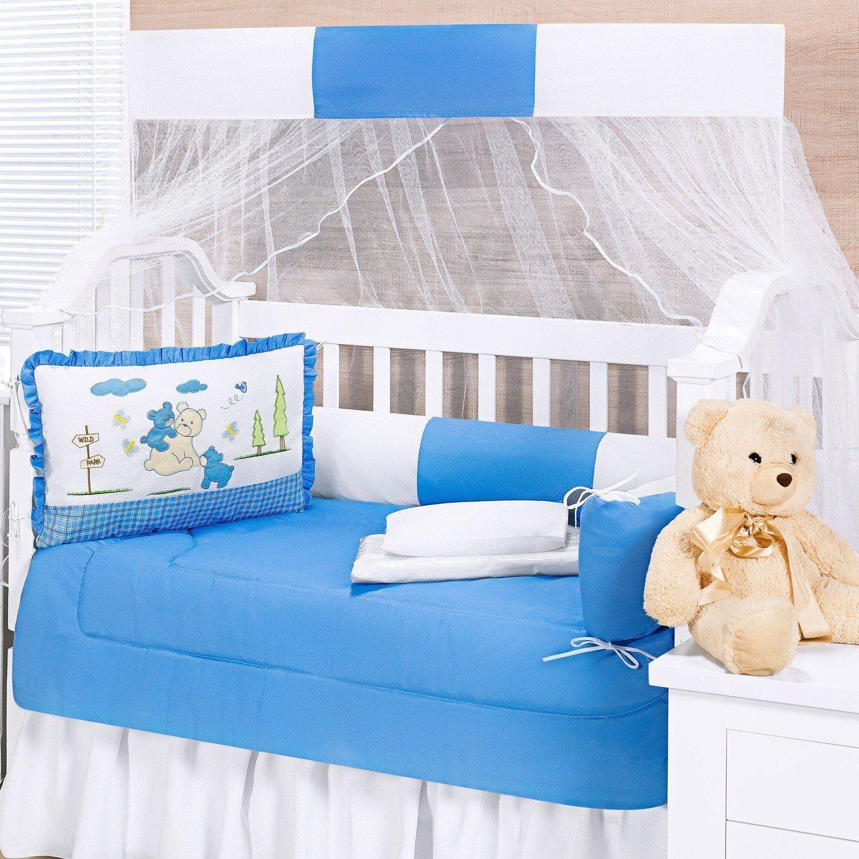 Kit Berço Amiguinhos da Alegria Azul