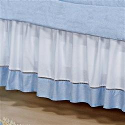 Saia para Berço Luxo Azul