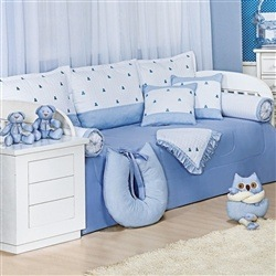 Kit Cama Babá Luxo Azul