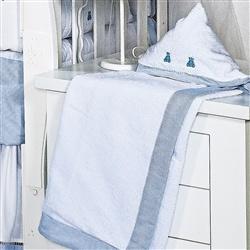 Toalha com Capuz Luxo Azul
