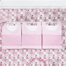 Porta Fraldas Varão Luxo Rosa