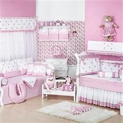 Quarto para Bebê Luxo Rosa