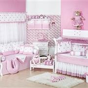 Quarto para Bebê sem Cama Babá Luxo Rosa