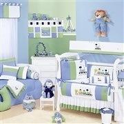 Quarto para Bebê sem Cama Babá Trenzinho Azul