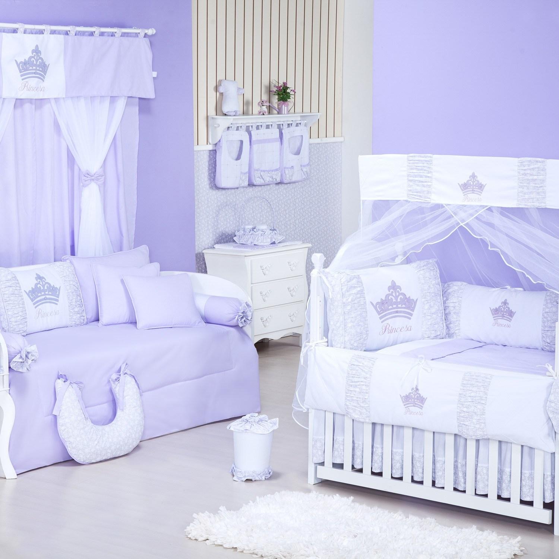 Quarto para Bebê sem Cama Babá Princesinha Lilás