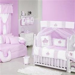 Quarto para Bebê sem Cama Babá Princesinha Rosa