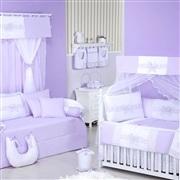 Quarto para Bebê sem Cama Babá Provence Lilás