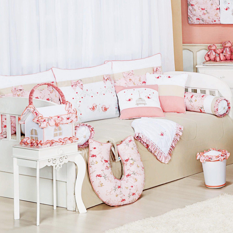 Kit Cama Babá Primavera Rosa