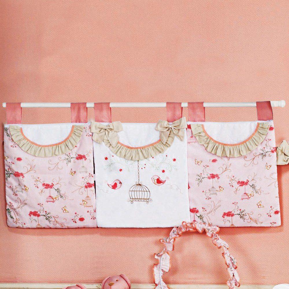 Porta Fraldas Varão Primavera Rosa