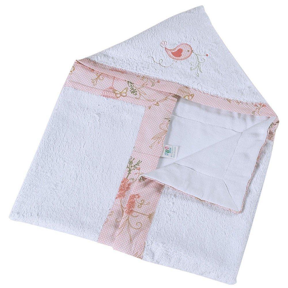 Toalha com Capuz Primavera Rosa