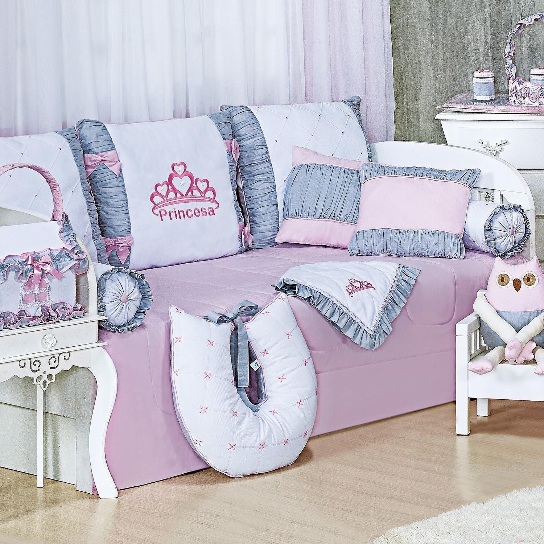 Kit Cama Babá Princesa Rosa