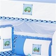 Quarto para Bebê sem Cama Babá Transporte Azul