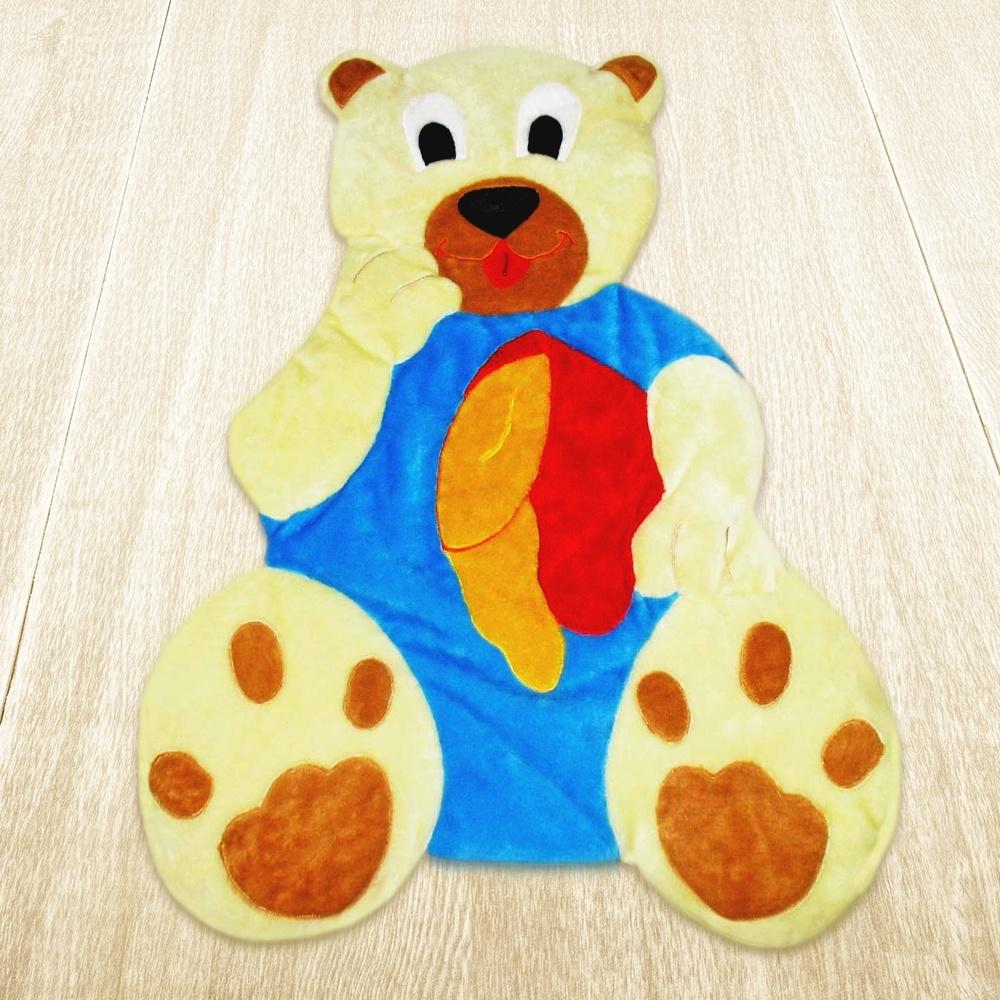 Tapete Urso Mel Azul