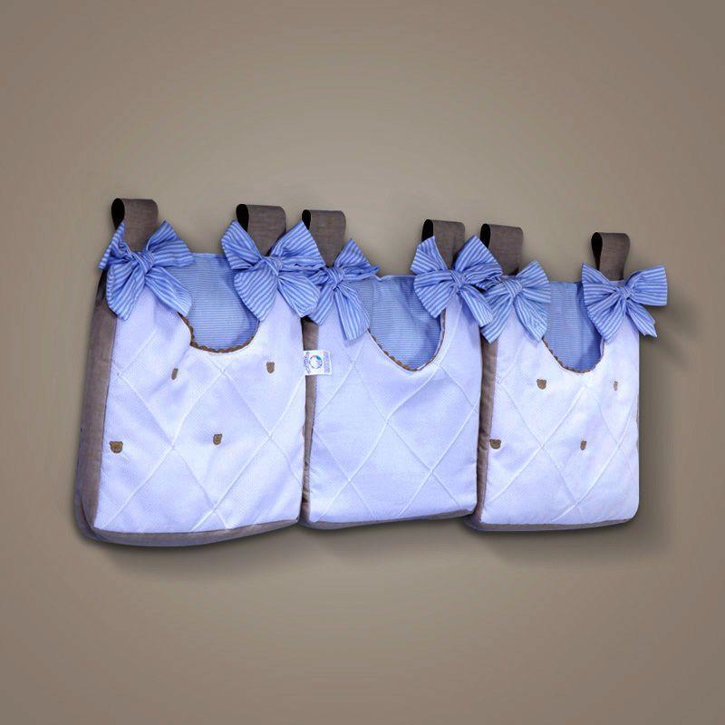 Porta Fraldas Varão Lipe Azul