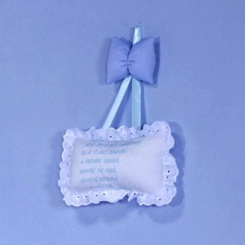 Enfeite Oração Santo Anjo Lipe Azul