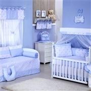 Quarto para Bebê sem Cama Babá Lipe Azul