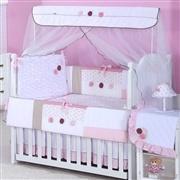 Quarto para Bebê sem Cama Babá Lorena Rosa