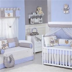 Quarto para Bebê Urso Fofo Azul