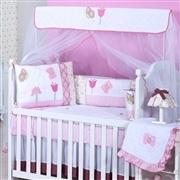 Quarto para Bebê sem Cama Babá Maria Flor Rosa