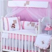Quarto para Bebê sem Cama Babá Gorduxa Rosa