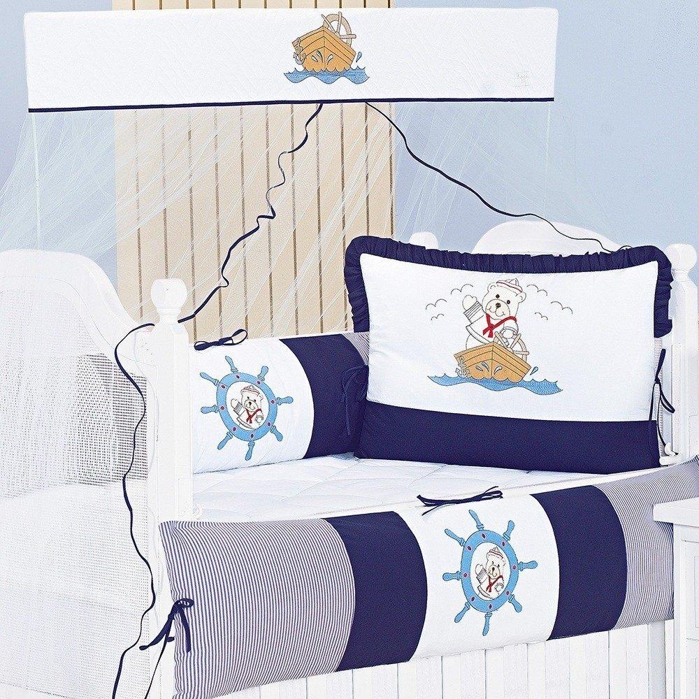 Kit Berço Navy Marinho
