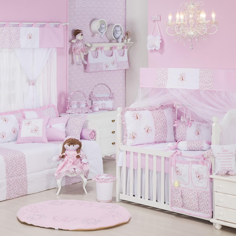 Quarto para Bebê Borboletinhas Rosa