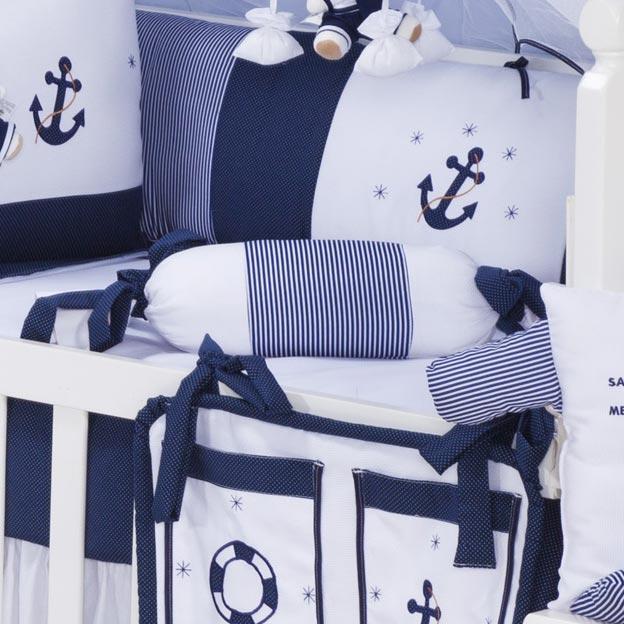 Almofada Apoio Bala Marinheiro Azul