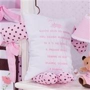 Quarto para Bebê sem Cama Babá Ursa Florista Rosa
