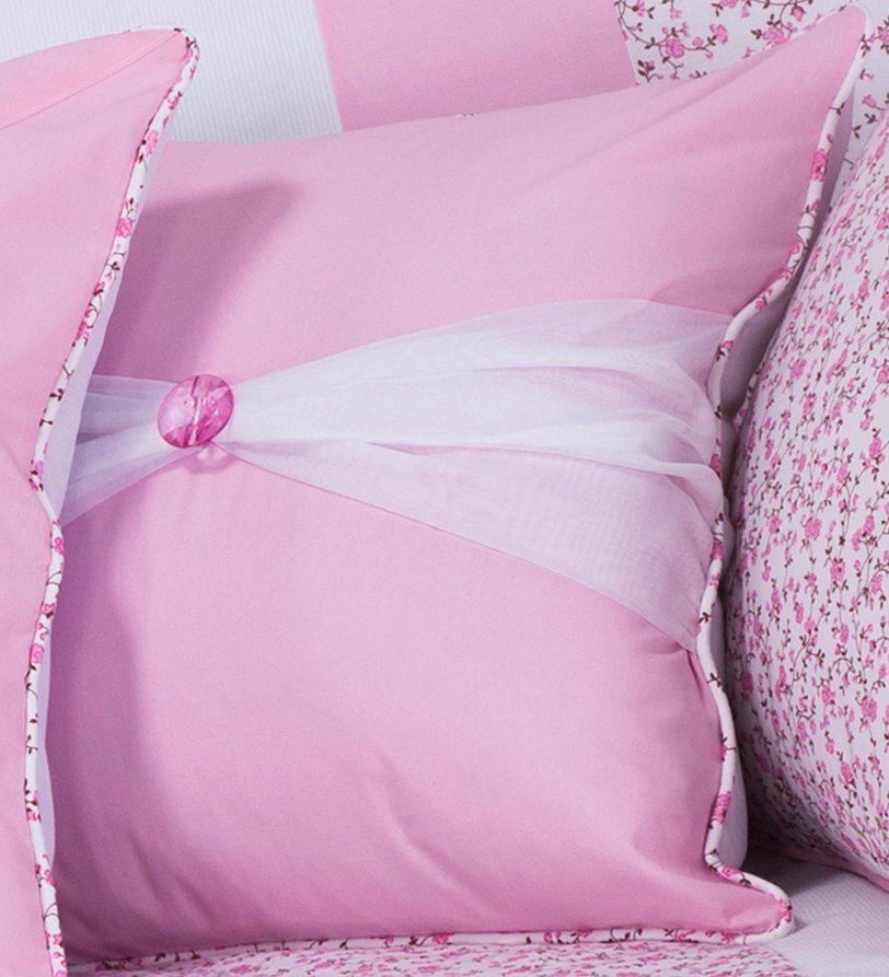 Almofada Botão Borboletinhas Rosa