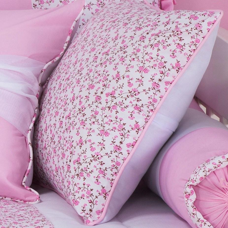 Almofada Estampada Borboletinhas Rosa