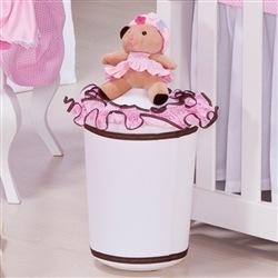 Lixeira Ursa Florista Rosa