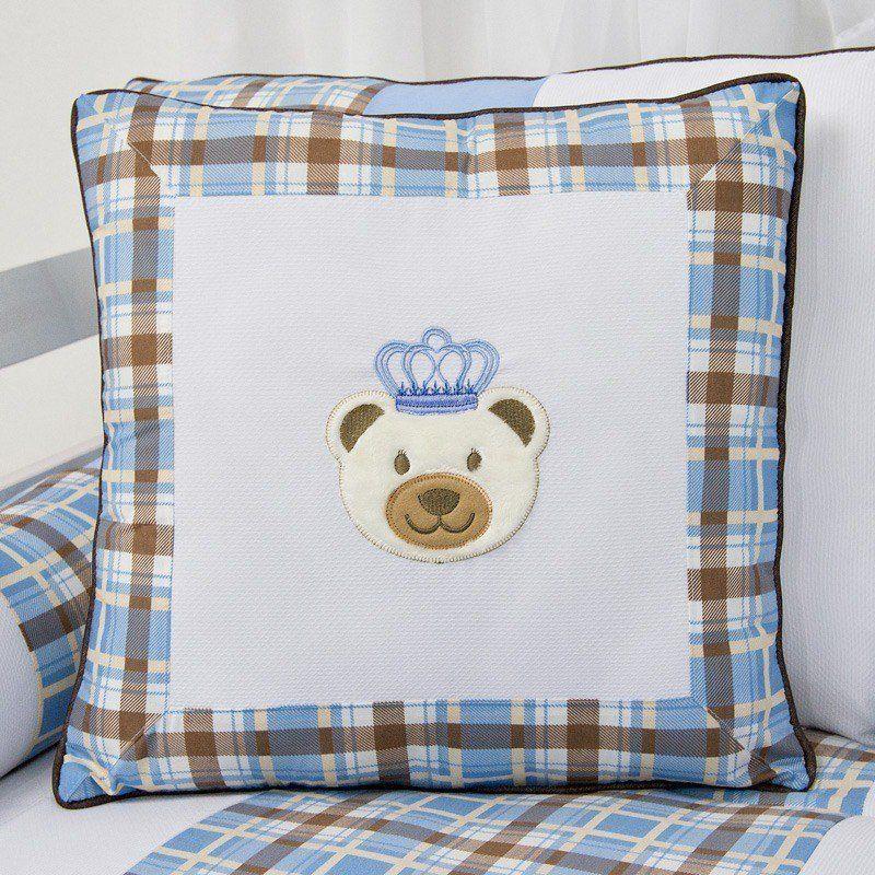 Almofada Bordada Urso Realeza