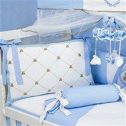 Kit Berço Teddy Azul